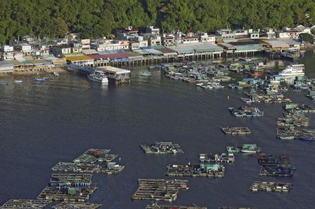 The fish farm at Lamma Island of Hong Kong. Lamma Island is famous for seafood. Stock Photo - 2793010
