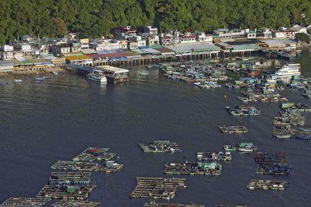 The fish farm at Lamma Island of Hong Kong. Lamma Island is famous for seafood. Stock Photo - 2793010