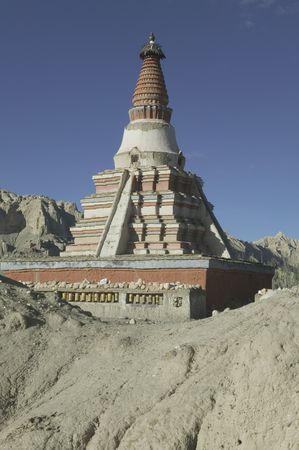 stupas: The stupas at Zhada in Tibet.  Stock Photo
