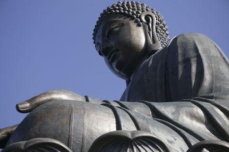 The giant statue of Buddha in Lantau Island of Hong Kong. photo