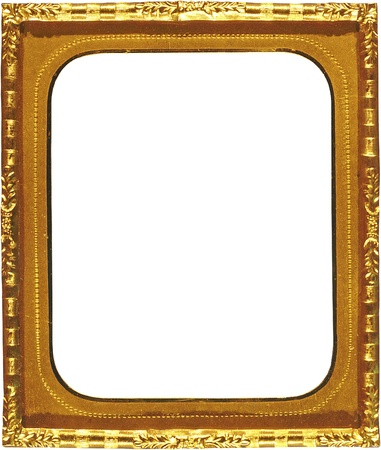 Antique Gold Picture Frame with Rectangular Cutout photo