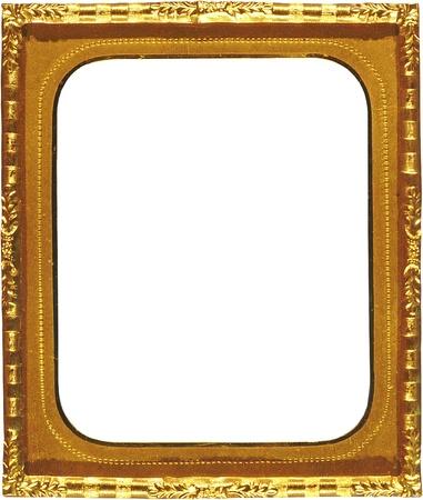 Antique Picture Frame or avec découpe rectangulaire Banque d'images - 14329195
