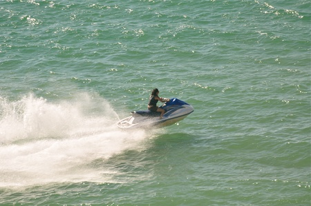 rocky point: A woman jet skiing in Rocky Point, Mexico