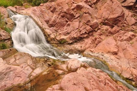 A small waterfall in Tontozona Фото со стока