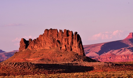 View of a mountain during sunset in Monument valley, Arizona Stock Photo - 17603631