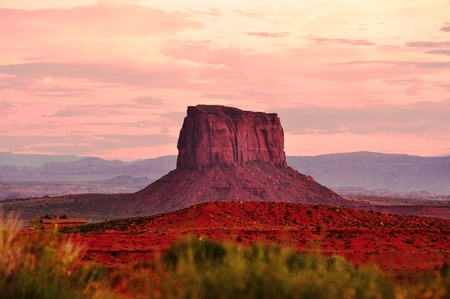 Colorful view of the Monument valley during sunset in Arizona, USA Stock Photo - 17603630