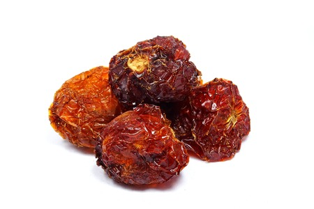 Dried Red Habanero Pepper Stock Photo