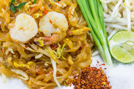 pad thai,stir-fried rice noodles  thai food street  photo