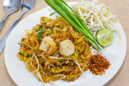 pad thai,stir-fried rice noodles  thai food street  photo