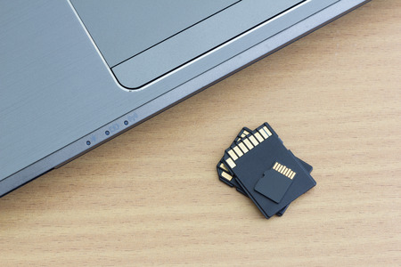 micro sd card and adapter with laptop