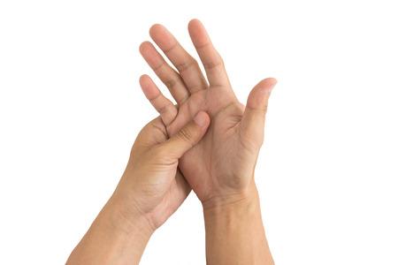 chronic pain: man hand injury Stock Photo