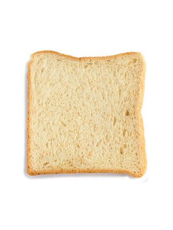 food stuff: Bread slice on white background