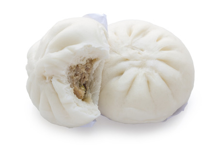 Steamed bun isolate on white background