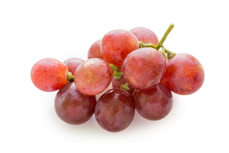 grape: Bunch of red grapes on white background