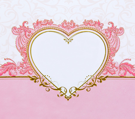 the admirer: pink heart on pink background for valentine