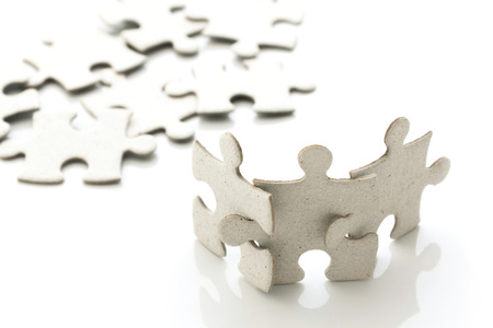puzzle jigsaw on white background Stock Photo