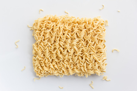 top view of Instant noodles