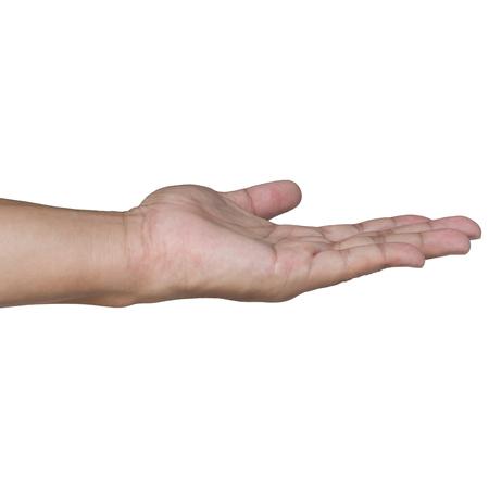 Open hand isolated on white Standard-Bild - 107318462