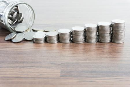 thai coin money with saving money concept Standard-Bild - 108906530