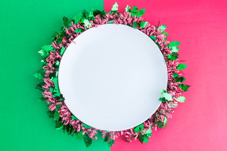 christmas background in top view with copy space Standard-Bild - 109802028