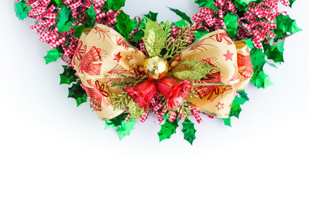 christmas background in top view with copy space Standard-Bild - 109802038