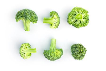 fresh broccoli on white in top view Standard-Bild - 112685969