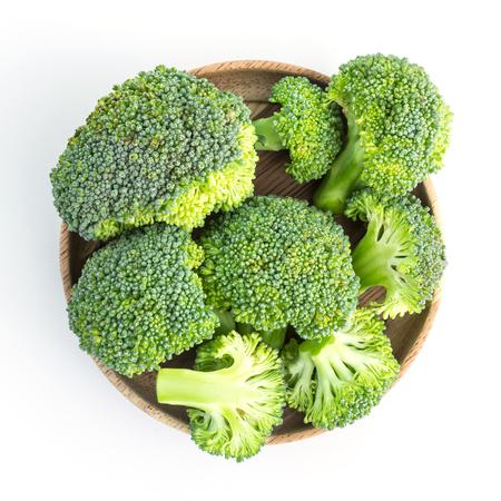 fresh broccoli on white in top view Standard-Bild - 112686270