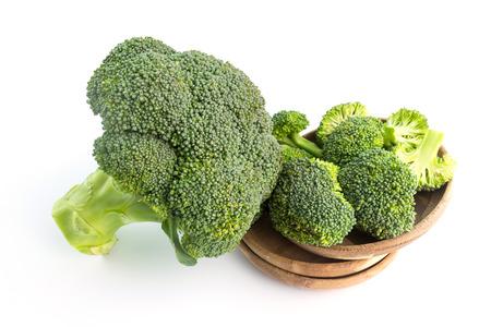 fresh broccoli on white in top view Standard-Bild - 112686373