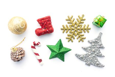 Christmas accessory on white background Stockfoto