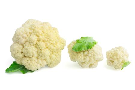 Fresh cauliflower on white background Stockfoto