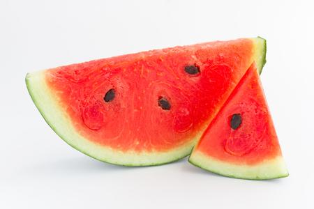 watermelon slices on white