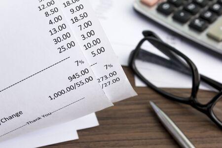 ontvangst van betaling in bovenaanzicht