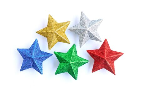 colorful stars on white background