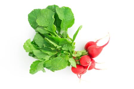 fresh beetroot on white background