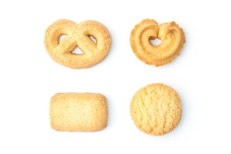 cookie set in top view Standard-Bild