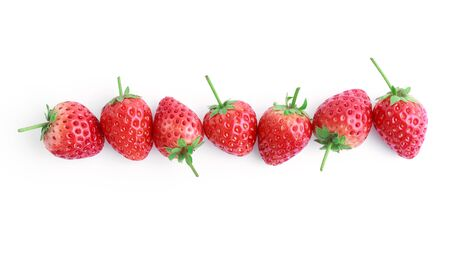fresh strawberries on white background Zdjęcie Seryjne