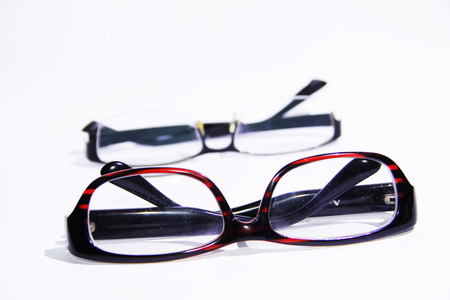 two visions: Glasses Stock Photo