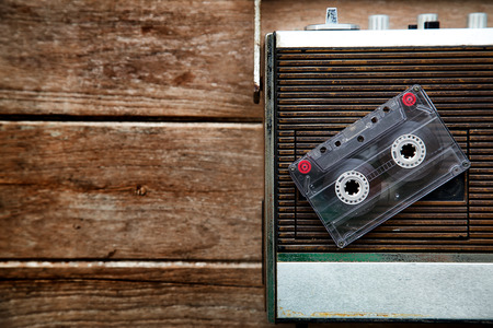 radio waves: Vintage radio and Cassette Tape