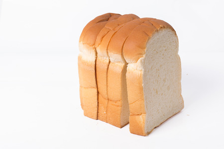 bread on white background photo