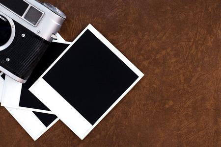 blank old camera film and vintage camera