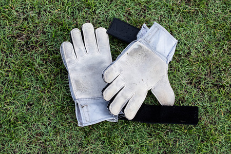 doelman Handschoenen Stockfoto