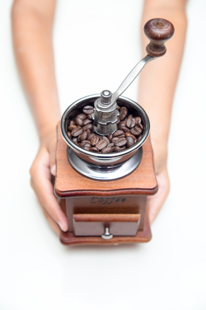 Handle Coffee Grinder On a white background