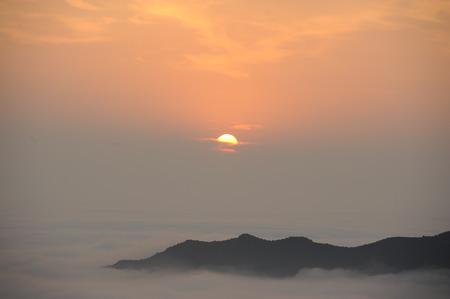 wan: Wan Xian mountain Sunrise