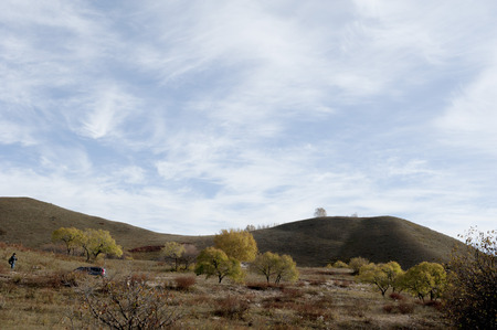 inner mongolia: View of prairie at Inner Mongolia Stock Photo