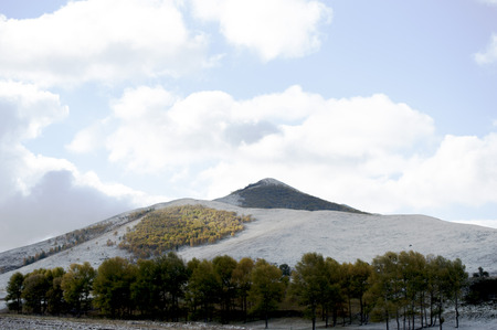 nature scenery: Nature scenery of a snow mountain