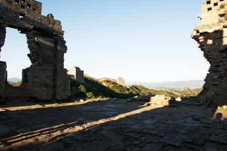 jinshanling: Old---great wall Jinshanling  Stock Photo