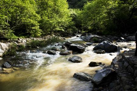 county: Yuexi County Canyon scenery Stock Photo
