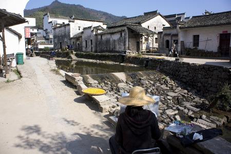 province: Scenery Lu village, Yixian County, Anhui Province Editorial