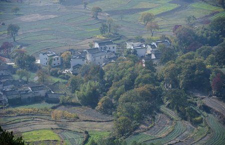 rural area: Aerial landscape view of a rural area