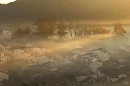 marvelous: Wuyuan with marvelous scenery Stock Photo